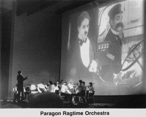 PRO accompanying a Chaplin film.