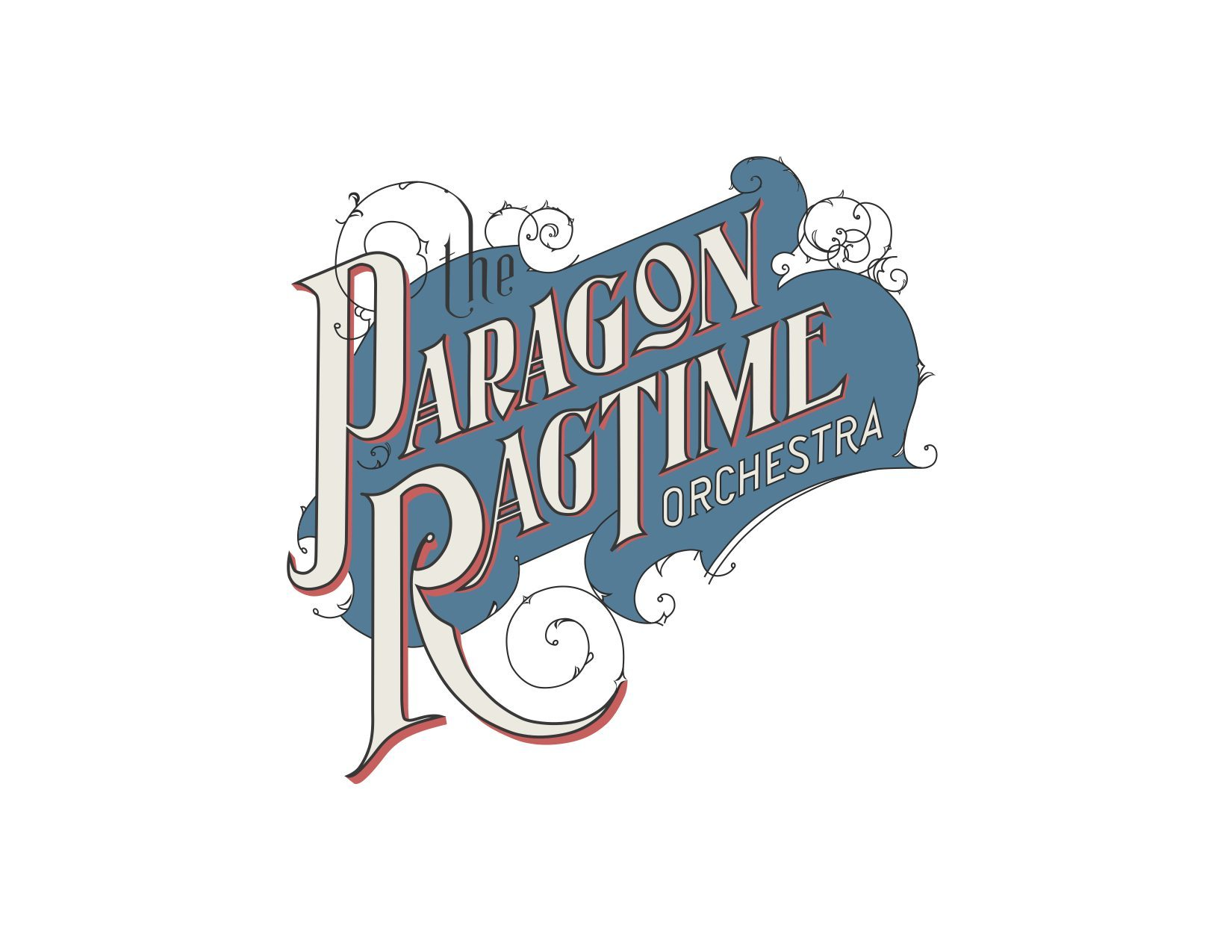 The Paragon Ragtime Orchestra's official logo.
